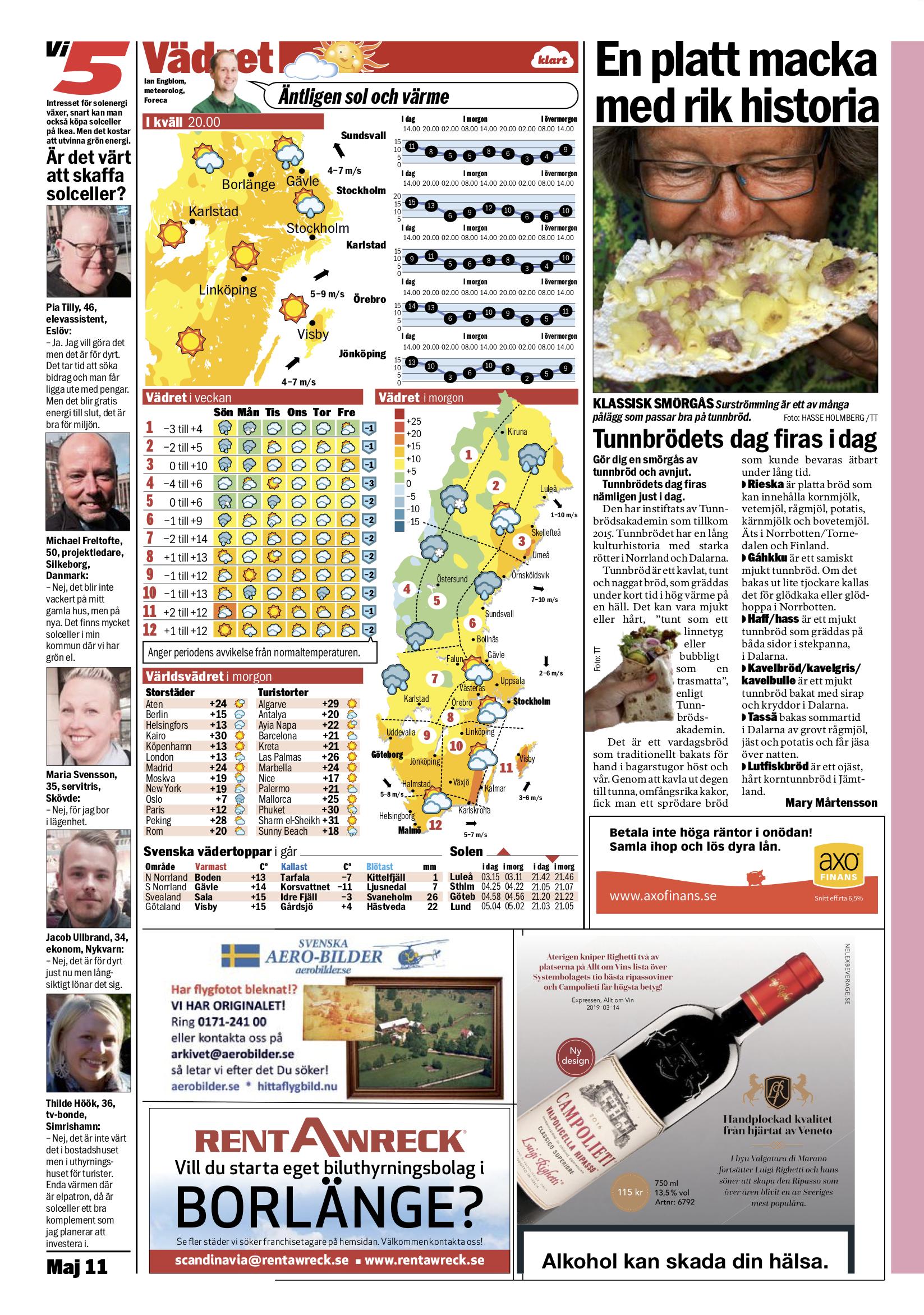 Aftonbladet 2019-05-11