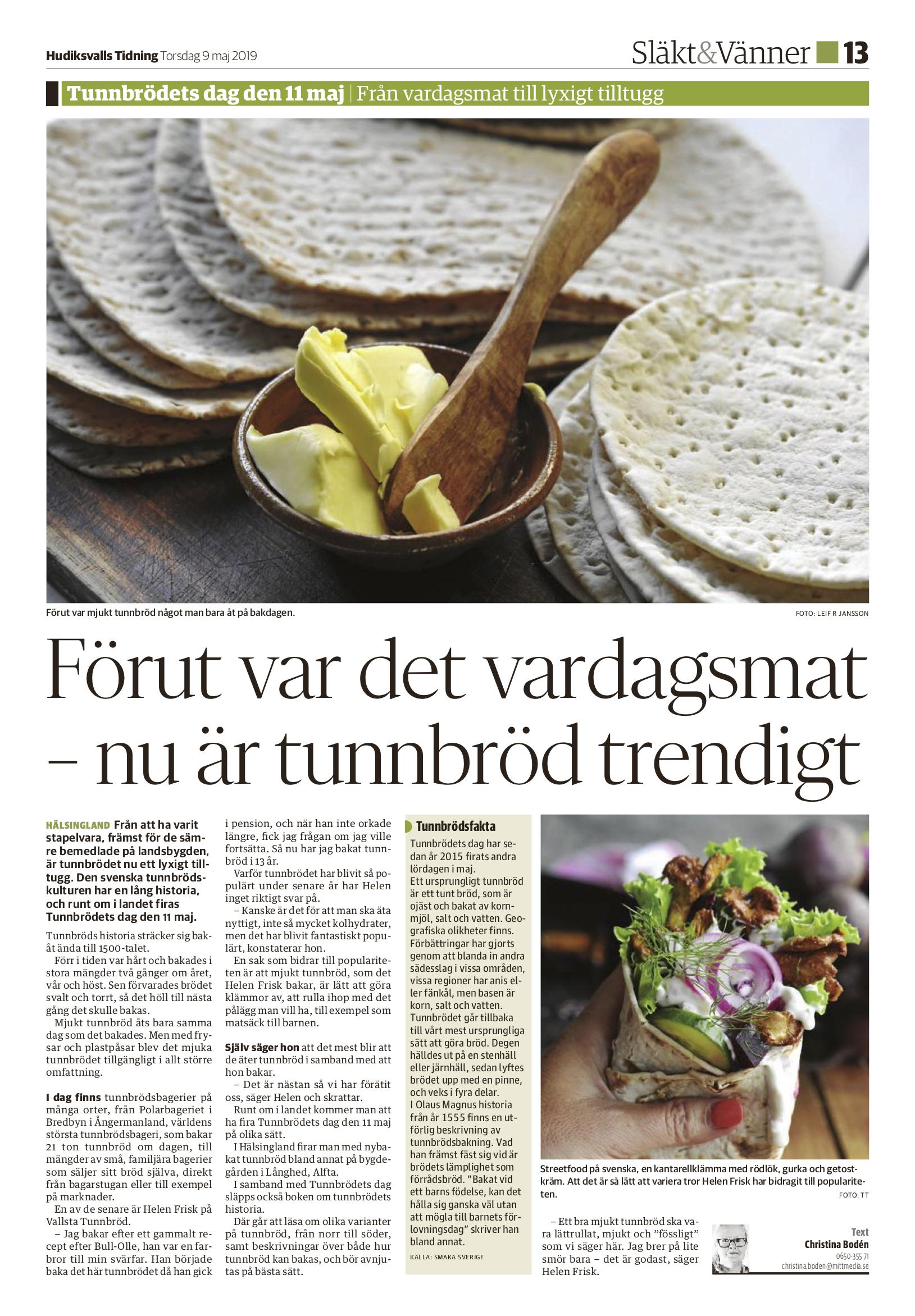 Hudiksvalls Tidning 2019-05-09